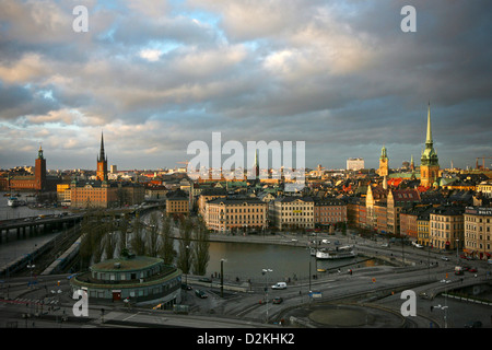 A view of Gamla Stan in the heart of Stockholm, Sweden, as seen from Katarina Hissen on Södermalm. (Photo by Scott - Stock Photo