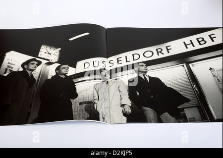 Kraftwerk booklet Trans Europe Express produced for The Catalogue CD box set - Stock Photo
