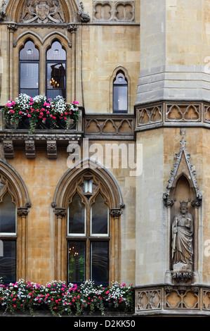 Detail of facade of Westminster School (The Royal College of St. Peter) , London , England - Stock Photo