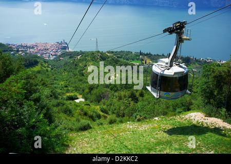 Malcesine Monte Baldo Cable Car Lake Garda Italy Stock Photo