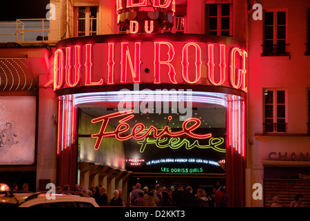 Moulin Rouge in Paris - Stock Photo