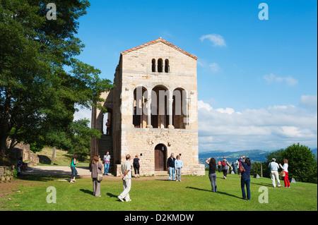 Santa Maria de Naranco, 9th century pre-romanesque style, Unesco World Heritage Site, Oviedo, Spain - Stock Photo