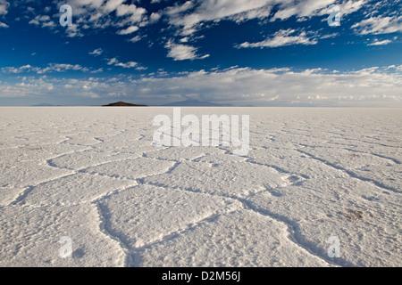 Salar de Uyuni, worlds largest salt lake, Bolivia, South America - Stock Photo