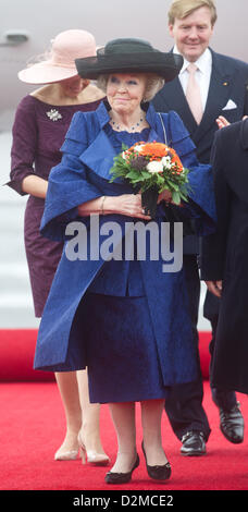 QUEEN BEATRIX OF THE NETHERLANDS ABDICATION FILE PIX: Queen BEATRIX OF THE NETHERLANDS and her son crown prince - Stock Photo