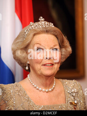 QUEEN BEATRIX OF THE NETHERLANDS ABDICATION FILE PIX: Queen BEATRIX OF THE NETHERLANDS of The  on 12 April 2011 - Stock Photo