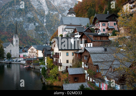 Hallstatt village In the Autumn - Stock Photo