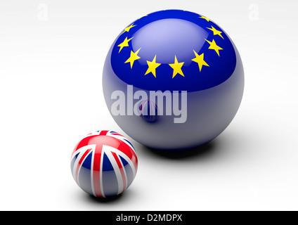 EU / UK relationship concept - Brexit negotiations concepts - Stock Photo