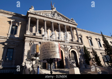 National library in Madrid, Spain - Stock Photo