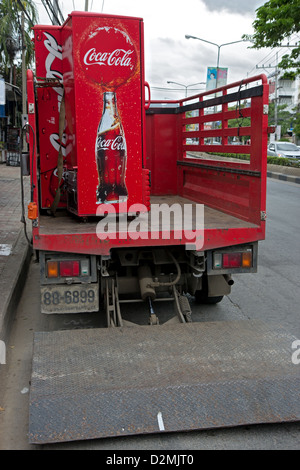 delivery of refrigerators from Coca Cola - Stock Photo