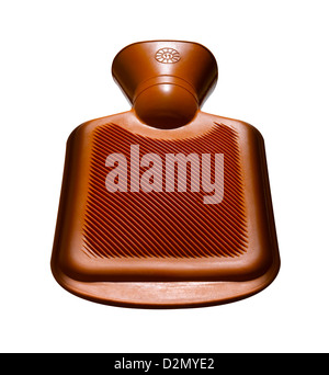 A cut out of an orange hot water bottle - Stock Photo