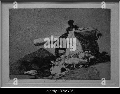 What Bravery! Francisco de Goya, Disasters of War, circa 1808-1813, British Museum, London, England, UK, GB, British - Stock Photo