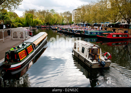 The Grand Union Canal, Little Venice, Maida Vale, London, England, United Kingdom, Europe - Stock Photo