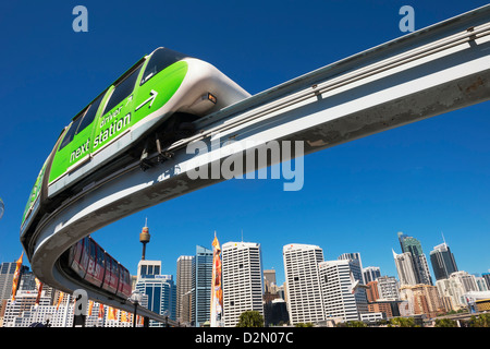 Monorail in Darling Harbour, Sydney, New South Wales, Australia, Pacific - Stock Photo
