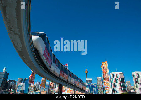 Monorail, Darling Harbour, Sydney, New South Wales, Australia, Pacific - Stock Photo