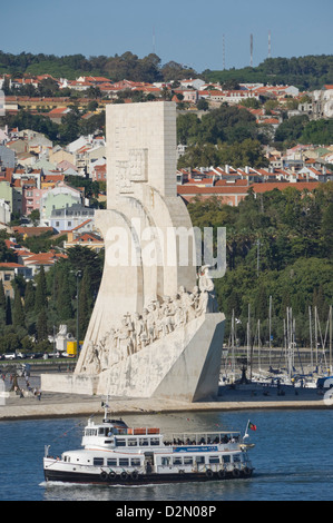 Padrau Dos Descobrimentos (Monument to the Discoveries), Belem, Lisbon, Portugal, Europe - Stock Photo