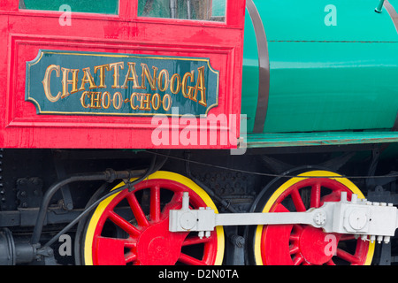 Locomotive at the Chattanooga Choo Choo, Chattanooga, Tennessee, United States of America, North America - Stock Photo