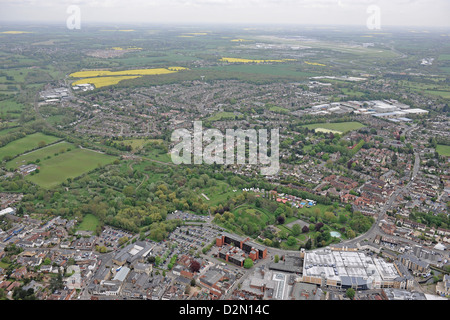 Aerial photograph of Bishops Stortford - Stock Photo
