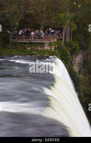 Tourists at Iguazu Falls, Iguazu National Park, UNESCO World Heritage Site, Misiones, Argentina, South America