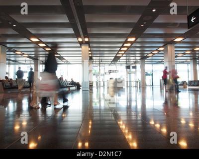 Waiting Area, Zurich airport, Zurich, Switzerland, Europe - Stock Photo