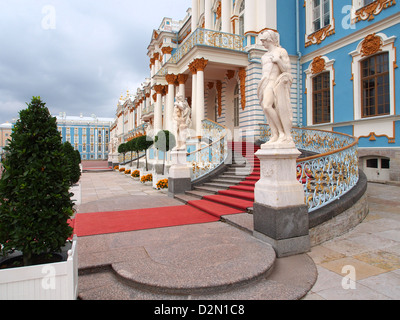 West end, Catherine Palace, Tsarskoye Selo (Pushkin), near St. Petersburg, Russia, Europe - Stock Photo