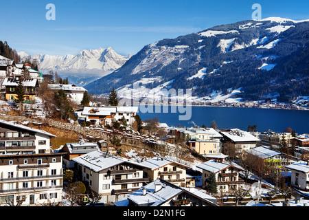 Zell am See panorama, Pinzgau, Austria - Stock Photo
