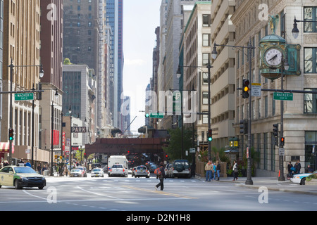 The Loop, Chicago, Illinois, United States of America, North America - Stock Photo