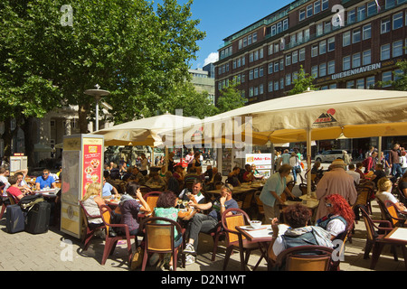 sidewalk cafe in the shopping centre at playa de las cucharas costa stock photo 10645192 alamy. Black Bedroom Furniture Sets. Home Design Ideas