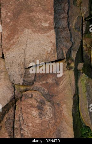 Pennine gritstone face in the area around Saddleworth - Stock Photo
