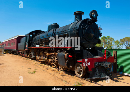 The Ghan in the Ghan Heritage Museum, Alice Springs, Northern Territory, Australia, Pacific - Stock Photo