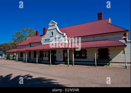Historical Railway station in Quorn near the Flinders Range National Park, South Australia, Australia, Pacific - Stock Photo