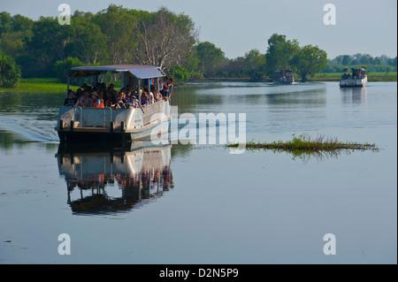 River cruise ship, Kakadu National Park, UNESCO World Heritage Site, Northern Territory, Australia, Pacific - Stock Photo