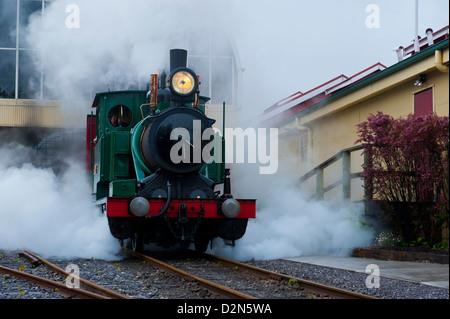 Old steam train, Queenstown, Tasmania, Australia, Pacific - Stock Photo