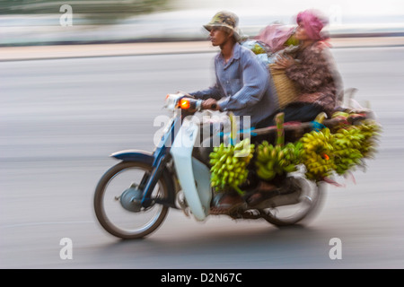 Sisowath Quay, Phnom Penh, Cambodia, Indochina, Southeast Asia, Asia - Stock Photo