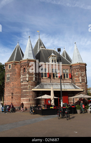 The Waag, a former weighing house, at the Nieuwmarkt (New Market), Red Light District, in Amsterdam, The Netherlands, - Stock Photo