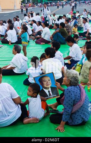 King Norodom Sihanouk death - Stock Photo