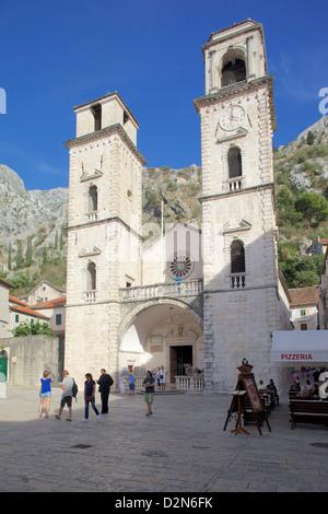 St. Nicholas Serbian Orthodox Church, Old Town, Kotor, UNESCO World Heritage Site, Montenegro, Europe - Stock Photo