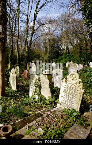 Graves at Highgate Cemetery, London, England, United Kingdom, Europe - Stock Photo