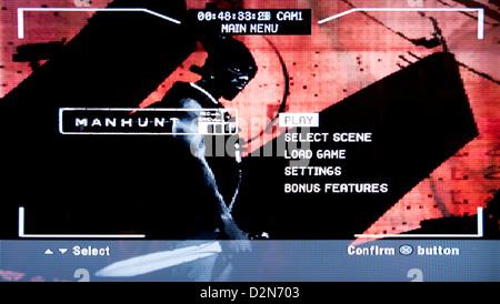Manhunt violent horror psychological video game - Stock Photo