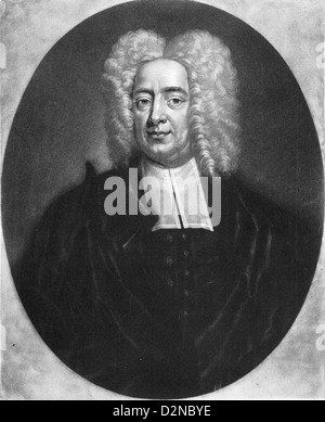 COTTON MATHER (1663-1728) New England Puritan minister about 1700 - Stock Photo