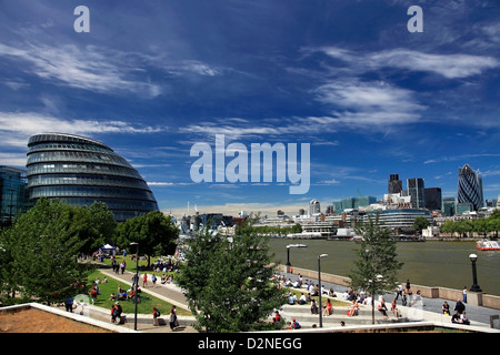 The London Assembly Building, (City Hall), South Bank, London City, England, United Kingdom - Stock Photo
