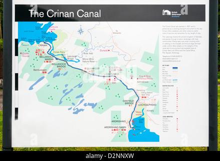 Scotland, County Argyll and Bute, Crinan Canal opened 1801 has 15 locks - Stock Photo
