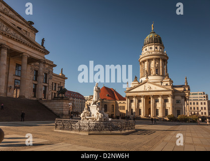 The French Cathedral,Gendarmenmarkt,Berlin,Germany - Stock Photo