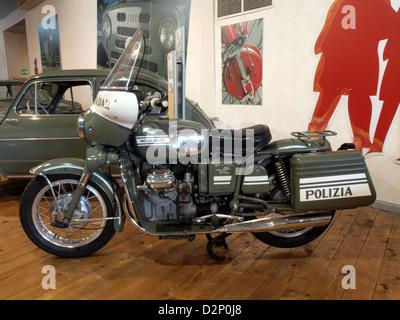Moto Guzzi police motorcycles - Stock Photo