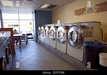 INSIDE A LAUNDROMAT IN PALM SPRINGS, CA, USA, OCT 2010 - Stock Photo