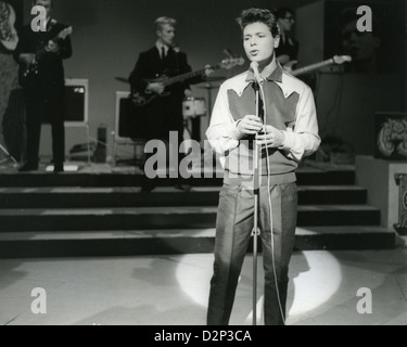 CLIFF RICHARD with The Shadows on his own ATV show 'Cliff' in January 1961. Jet Harris on the steps. - Stock Photo