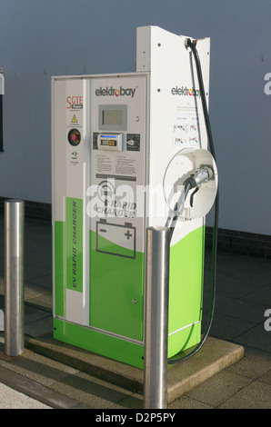 Electrobay rapid charger for battery powered electric cars, Washington England UK - Stock Photo