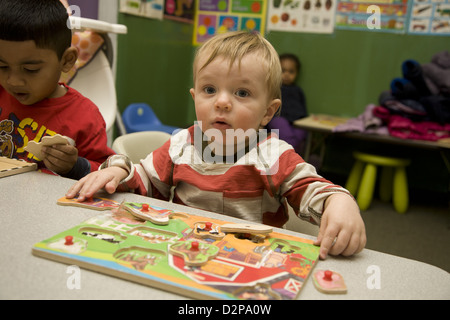 Kids Are Us Nursery school/early learning center in the highly multicultural Kensington neighborhood of Brooklyn, - Stock Photo