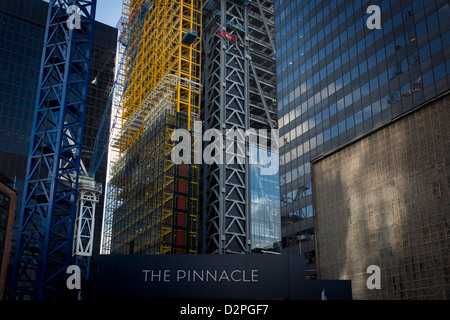 The large construction project known as the Pinnacle, on Bishopsgate in the financial City of London. The Bishopsgate - Stock Photo
