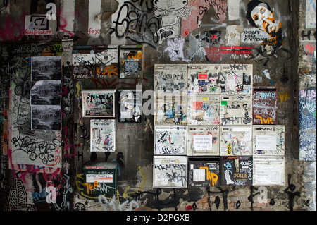 Berlin, Germany, letter boxes in the passage in Haus Schwarzenberg - Stock Photo