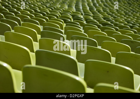 Munich, Germany, Olympiastadion rows of seats in the Olympic Park - Stock Photo